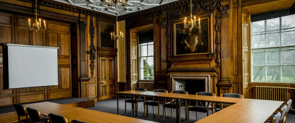 Interior of the Edwin Muir Room, available for conference venue hire at Newbattle Abbey