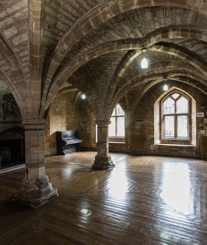 The Crypt interior within Newbattle Abbey, events venue Scotland