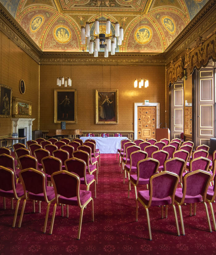 Beautiful interior of the Drawing Room at Newbattle Abbey Events venue Scotland