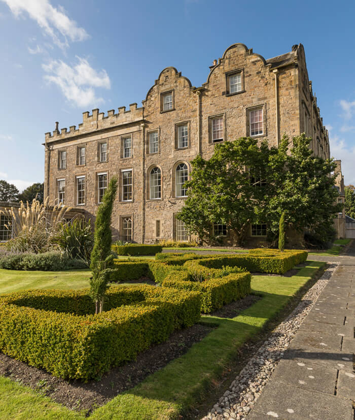 Front exterior of Newbattle Abbey Events Venue Scotland