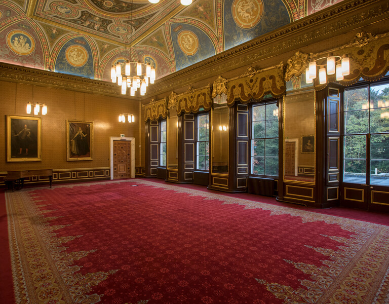 Interior of the Drawing Room available for conference hire at Newbattle Abbey,